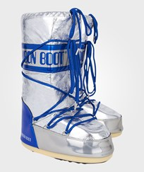 Moon Boot Metallic Silver Satellite Moon Boots Blue,Silver
