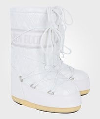 Moon Boot White Quilted Queen Moon Boots White