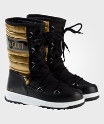 Moon Boot Black and Gold W.E. Quilted Moon Boots 001 BLACK-GOLD