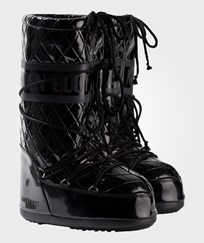 Moon Boot Black Quilted Queen Moon Boots 001 PT BLACK