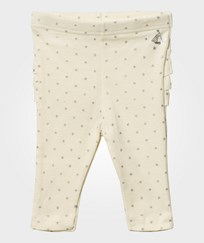 Petit Bateau Glitter Polka Dot Leggings Coquille Beige/Argent Grey Coquille/argent