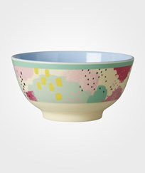 RICE A/S Melamine Bowl Two Tone with Splash Print Multi