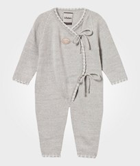 Lillelam Wrap Front Onesie Light Grey Lysegrå