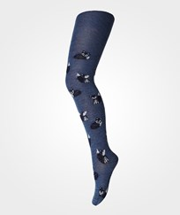 MP Otto Wool Tights Blue 97-Pazif. Grey