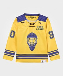 The BRAND Make A Save Hockey Jersey Blue/Yellow Blue/Yellow