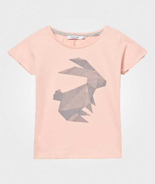 One We Like Pop T-Shirt Origami Rabbit Pink Pink
