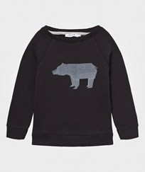 One We Like Rag Sweatshirt Bear Black Black