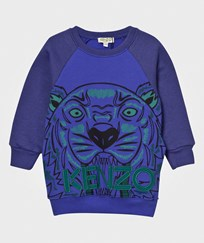Kenzo Large Printed Tiger Face Klänning Bright Blue 45