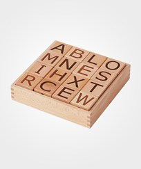 Kids Concept Neo Wooden Letter Blocks Natural Natural
