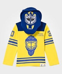 The BRAND Goalie Hoodie Blue/Yellow Blue/Yellow