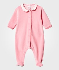 Petit Bateau Velour Footed Baby Body Pink 16