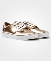 Vans Rose Gold Camden Stripe Lace Trainer (METALLIC LEATHER) RUGBY TAN