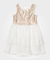 Kardashian Kids Gold Sequin and Tulle Dress GOLD IVORY