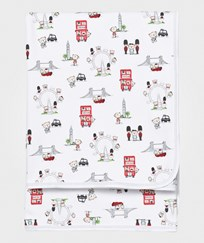 Kissy Kissy Blanket White London Landmarks Print WH