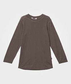Joha Wool Long Sleeve Tee Iron Brown
