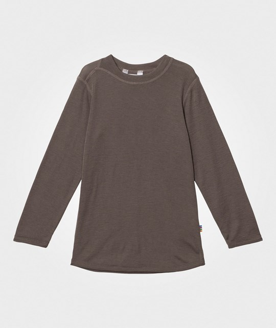 Joha Wool Long Sleeve Tee Iron Brown Iron brown