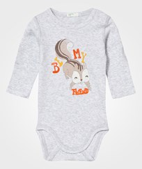 United Colors of Benetton Squirrel Baby Body Grey Black