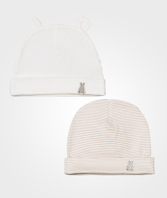 United Colors of Benetton Cotton Hat 2-Pack Beige Beige