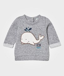 United Colors of Benetton Whale Sweatshirt Light Grey Light Grey