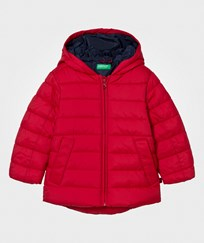 United Colors of Benetton Jacket with Hood Red Red
