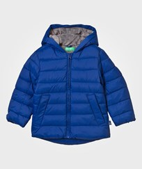 United Colors of Benetton Jacket with Hood Blue Blue