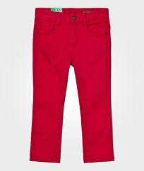United Colors of Benetton Skinny Fit Denim Red Rød