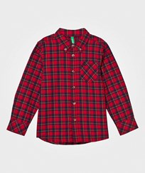 United Colors of Benetton Classic Flannel Shirt Red Red