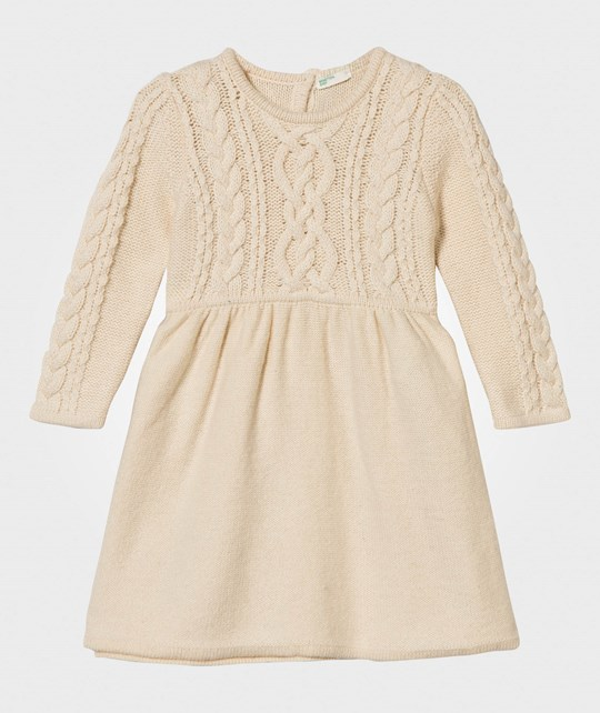 United Colors of Benetton Cable Knit Dress Cream Cream