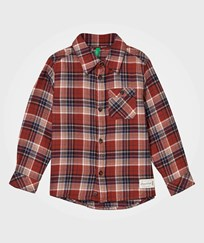 United Colors of Benetton Classic Flannel Shirt Brown Multi Red Multi