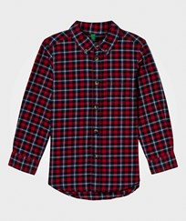 United Colors of Benetton Classic Flannel Shirt Red Multi Red Multi