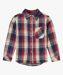 United Colors of Benetton Flannel Shirt Red Rød