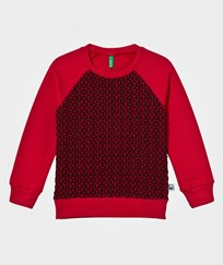 United Colors of Benetton Raglan Sweater Red/Black Red