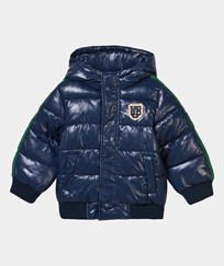 United Colors of Benetton Hooded Bomber Jacket Navy Navy