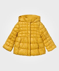 United Colors of Benetton Floral Print Puffer Jacket Yellow Yellow
