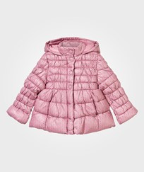 United Colors of Benetton Floral Print Puffer Jacket Pink Pink