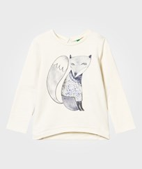 United Colors of Benetton Fox Sweater White White