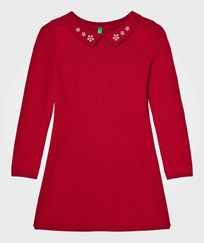 United Colors of Benetton Knit Collar Klänning Röd Red