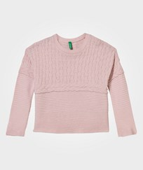 United Colors of Benetton Oversized Knit Sweater Pink Pink