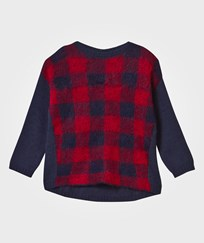United Colors of Benetton Oversized Knit Sweater Navy/Red Navy Red