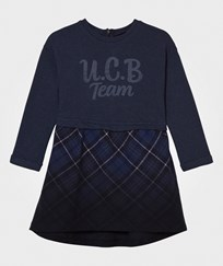 United Colors of Benetton College Style Dress Blue Navy