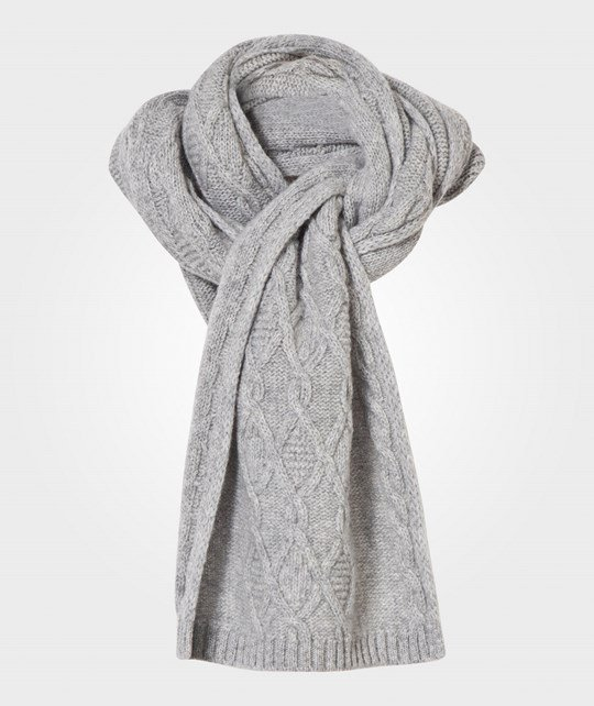 United Colors of Benetton Knit Scarf Grey Black