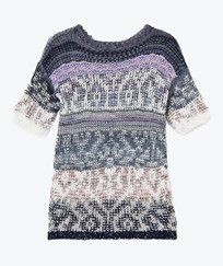 United Colors of Benetton Jacquard Knit Dress Navy Navy