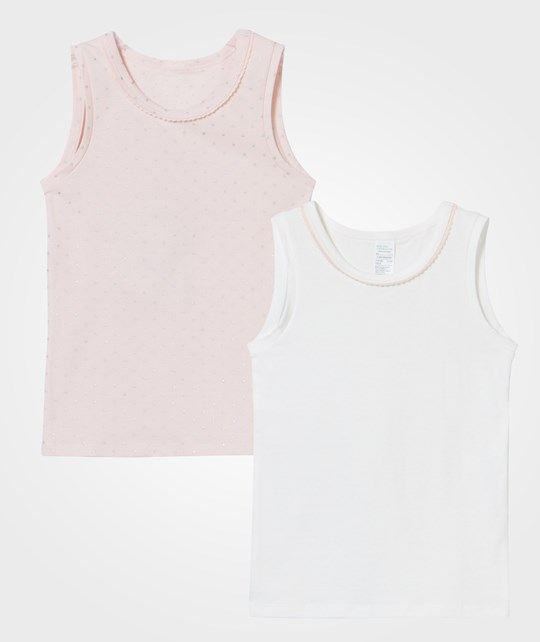 United Colors of Benetton Tank Top 2-Pack White/Pink White White