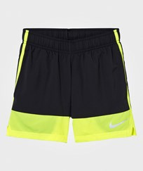NIKE Boys´ Black and Green Running Short BLACK/VOLT/VOLT/REFLECTIVE SILV
