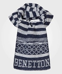 United Colors of Benetton Scarf Navy/White Navy