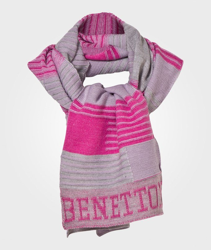 United Colors of Benetton Scarf Grey/Pink Pink