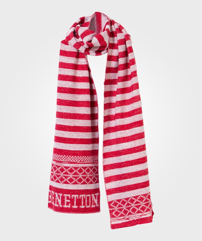 United Colors of Benetton Scarf White/Red Red