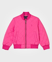 Ralph Lauren Quilted Baseball Jacket Madison Pink Madison Pink
