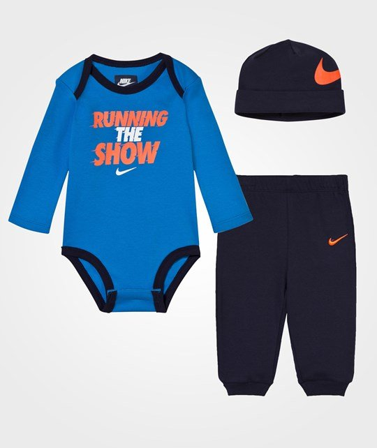 NIKE Obsidian Running The Show Body, Pants and Hat Set 695 OBSIDIAN
