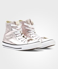 Converse Rose Gold Metallic Chuck Taylor All Star Hi Tops ROSE QUARTS